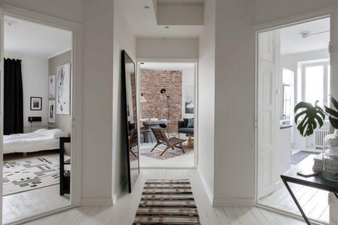 Minimalist Monochrome apartment in Helsinki