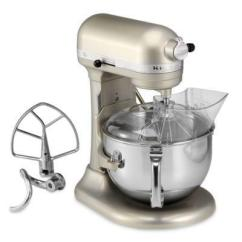 Kitchen Aid Professional Decorations Kitchenaid 600 Series 6 Quart Bowl Lift Stand Mixer In Nickel Pearl From Bed Bath Beyond At Shop Com