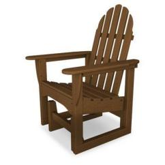 Polywood Classic Adirondack Chair Toddler Table And Chairs With Storage Glider In Teak From Bed Bath Beyond At Shop Com