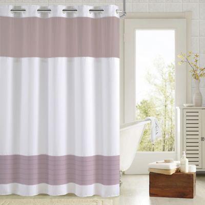 https www shop com hookless aruba pleats color block shower curtain in white lavender 1533482328 p xhtml
