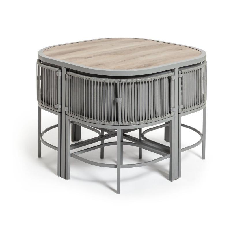 habitat nordic spring compact 4 seater patio set grey