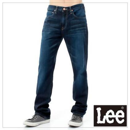 Lee牛仔褲 743 中腰舒適小直筒-男款(藍) from friDay購物 at SHOP.COM TW