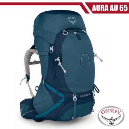 【美國 OSPREY】女新款 Aura AG 65 專業網架輕量登山背包S_挑戰藍 R from friDay購物 at SHOP.COM TW