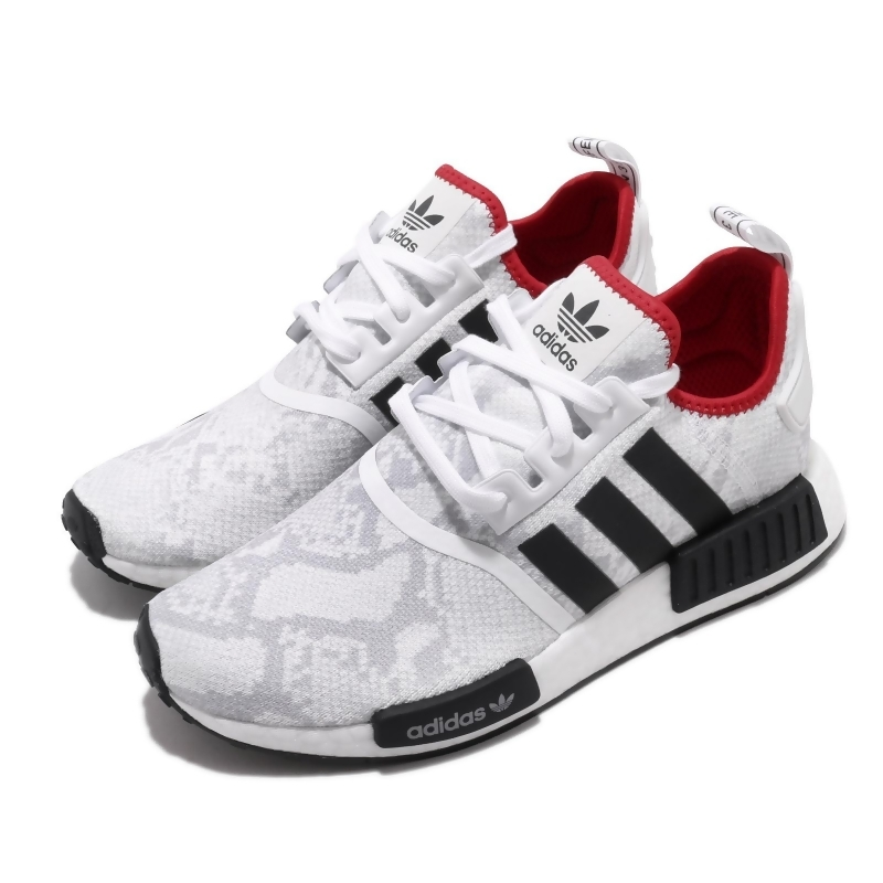 adidas 休閒鞋 NMD R1 襪套式 穿搭 男女鞋 海外限定 愛迪達 三葉草 Boost 情侶 白黑 FV3874 FV3874 from friDay購物 at SHOP.COM TW
