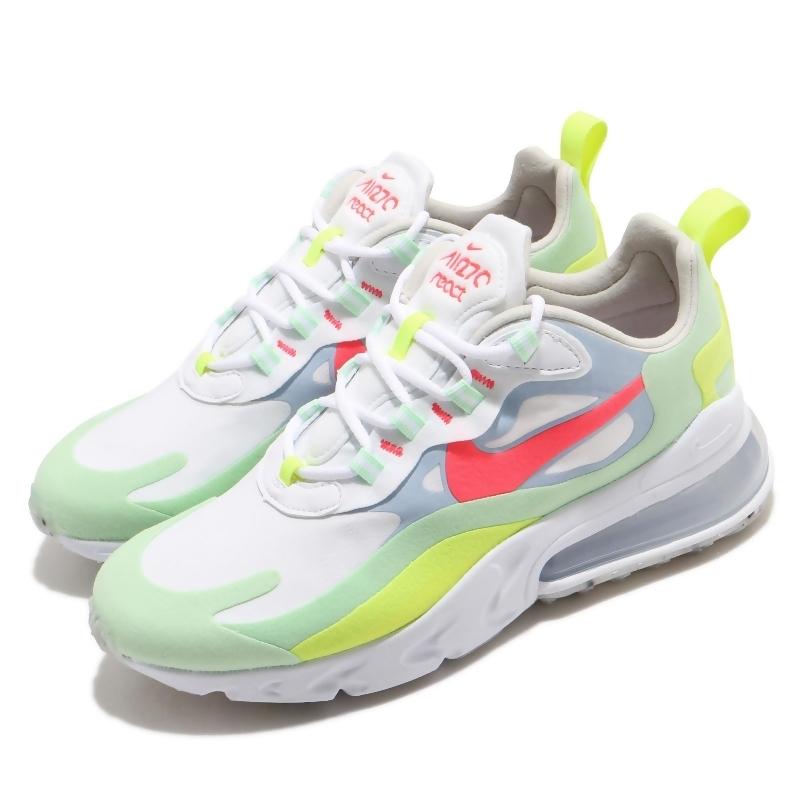 Nike 休閒鞋 Air Max 270 React 女鞋 氣墊 舒適 避震 簡約 球鞋 穿搭 白 紅 DB5927161 DB5927-161 from friDay購物 at SHOP.COM TW