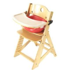 Keekaroo High Chair How To Make A Wooden Beach 0051401kr 0002 Natural With Cherry Infant Insert And Tray From Unbeatablesale At Shop Com