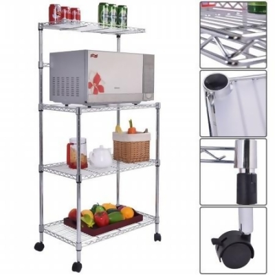 kitchen bakers rack homemade cabinets online gym shop cb16939 shelf 3 tier microwave oven stand storage cart workstation from unbeatablesale at com