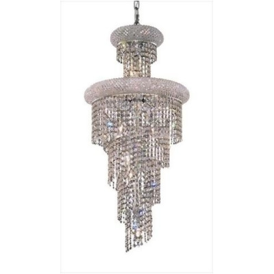 pwg lighting lighting by pecaso 1530sr16c ss adrienne swarovski strass element crystal chandelier chrome
