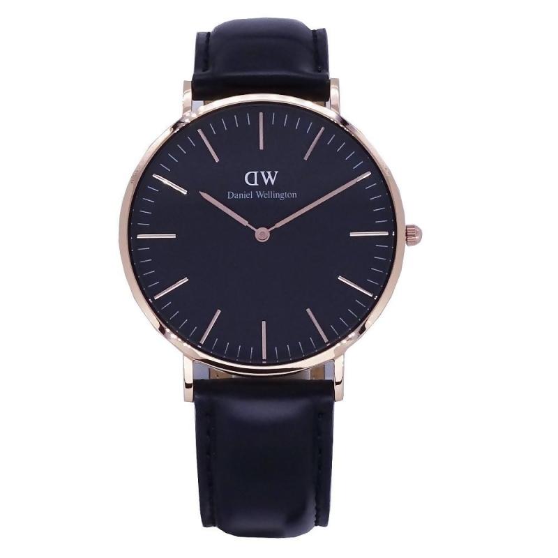 DW Daniel Wellington 經典中的珍貴收藏時尚優質皮革腕錶-黑+玫瑰金/40mm-DW00100127 from friDay購物 at SHOP.COM TW