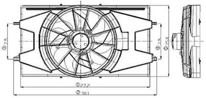 Engine Cooling Fan Assembly Global 2811548 fits 03-04