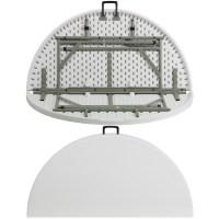 "Flash Furniture 48"" Round Bi-Fold Granite White Plastic ..."