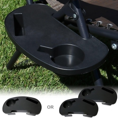 cup holder tray for zero gravity chair swing graco sunnydaze universal oval with mobile device slot and snack