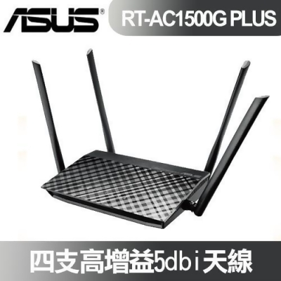 ASUS 華碩 AC1500 雙頻 無線路由器 RT-AC1500G PLUS from e-payless 百利市購物中心 at SHOP.COM TW