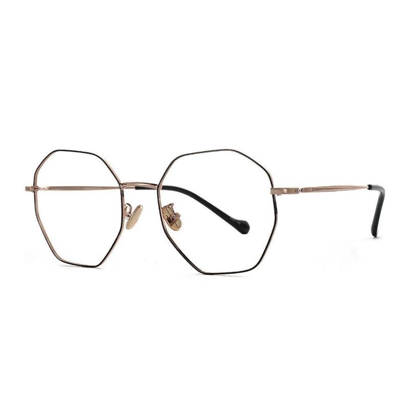 八角黑金細框眼鏡 金/黑®Ø FV637-C10 µøÃè from FitGlasses眼鏡-視鏡空間 at SHOP.COM TW