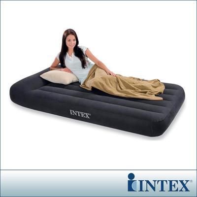 INTEX《舒適型》單人加大植絨充氣床墊(寬99cm)-有頭枕(66767) from 松果購物 at SHOP.COM TW