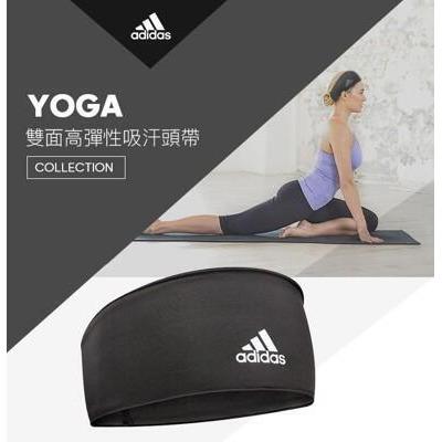adidas yoga - 雙面高彈性吸汗頭帶(經典黑) from 松果購物 at SHOP.COM TW