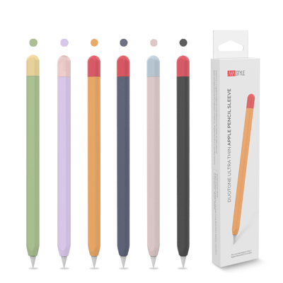 AHAStyle Apple Pencil 二代 撞色矽膠保護筆套 超薄保護套 from 松果購物 at SHOP.COM TW
