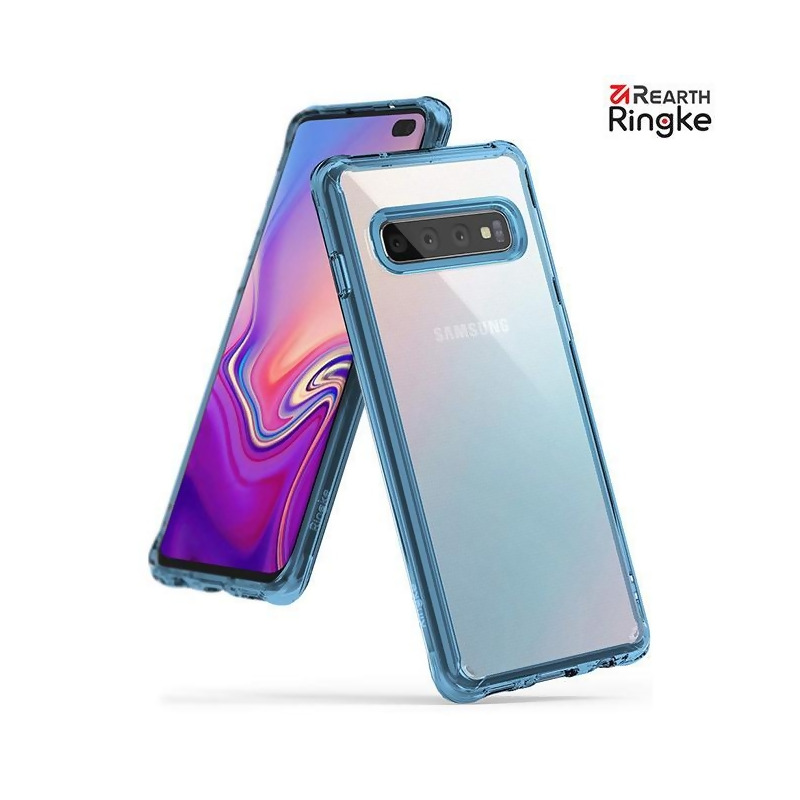 【Ringke】Rearth 三星 Samsung Galaxy S10 Plus (S10+) [Fusion] 透明背蓋防撞手機殼-透藍 from Rearth Ringke at SHOP.COM TW