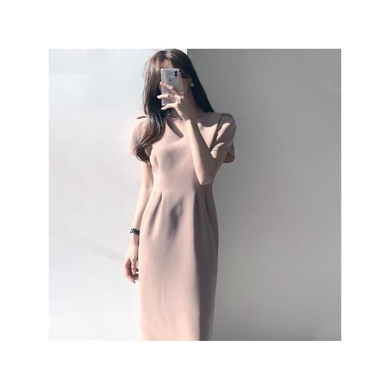 法式V領收腰洋裝 from MYDRESS at SHOP.COM TW