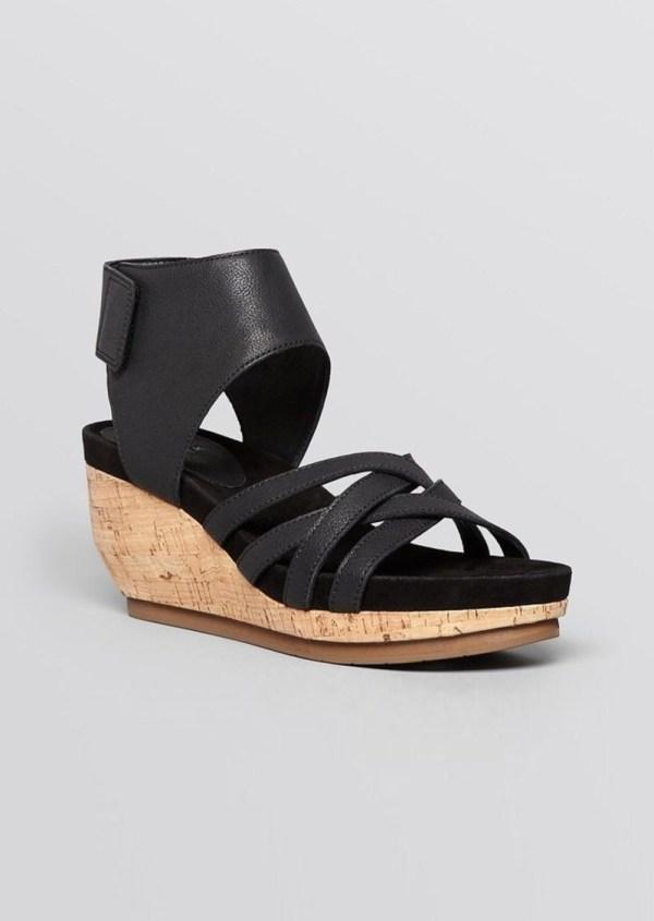 Eileen Fisher Platform Wedge Sandals - Vast