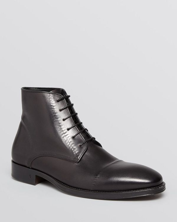 John Varvatos Collection Fleetwood Ghost Stitch Boots