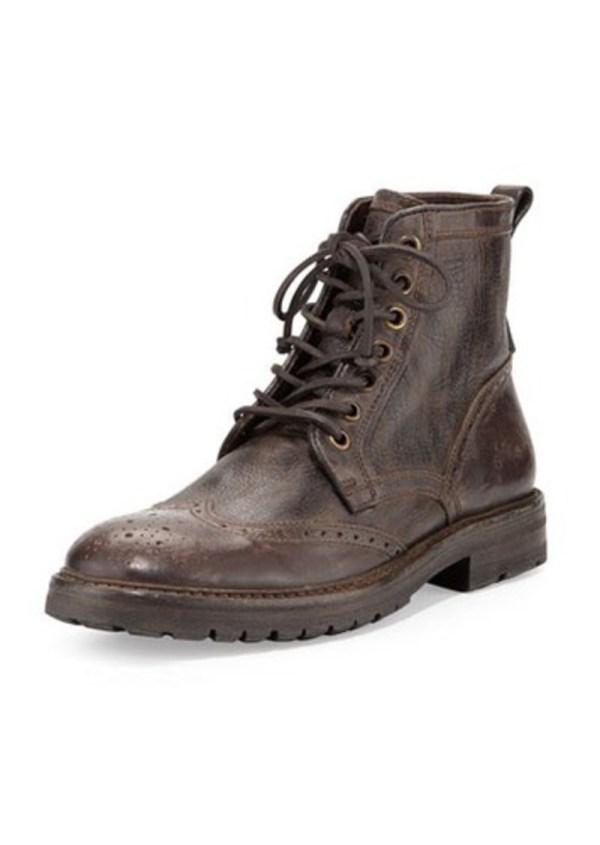 John Varvatos Stanley Wing-tip Leather Boot