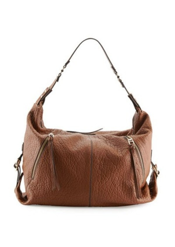Kooba Lauren Pebbled Zip Hobo Bag Earth Handbags