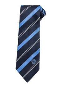 Versace Versace Thick and Thin Diagonal-Strip Tie, Black ...