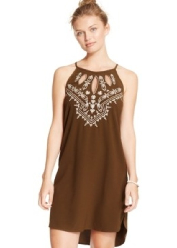 Xoxo Juniors' Embroidered Cutout Dress Dresses