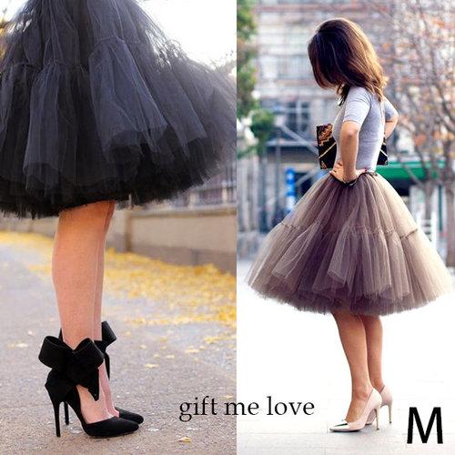 gift me love 愛禮 高級訂製 拼接設計款 薄紗澎澎裙(AE16)高腰顯瘦澎澎紗裙 附綁帶