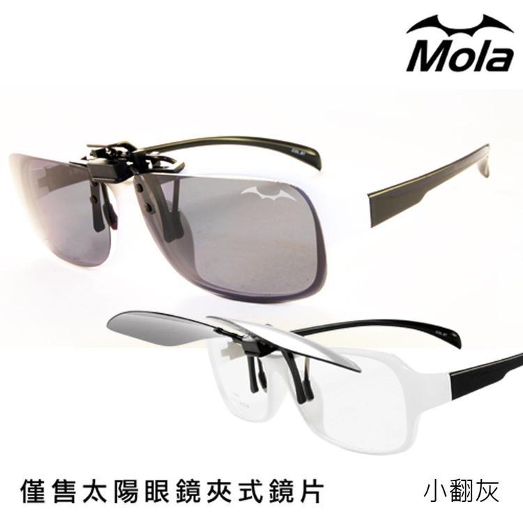超輕夾片推薦~MOLA偏光太陽眼鏡夾片 可上掀--小翻灰