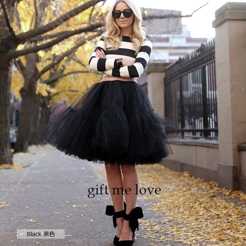 (現貨)拼接設計款 薄紗澎澎裙 gift me love 愛禮 高級訂製(AE16)高腰顯瘦澎澎紗裙