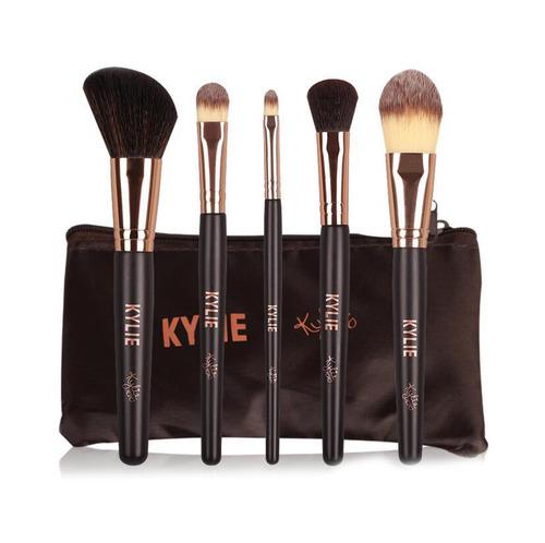 KYLIE 五入刷具組 粉底刷 蜜粉刷 大小眼影刷 眼影暈染刷 全包裝 合成纖維刷毛