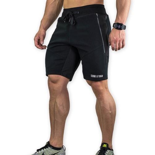 SG健身服飾 [STRONG] 健身膝上短褲 - 黑/深灰/淺灰