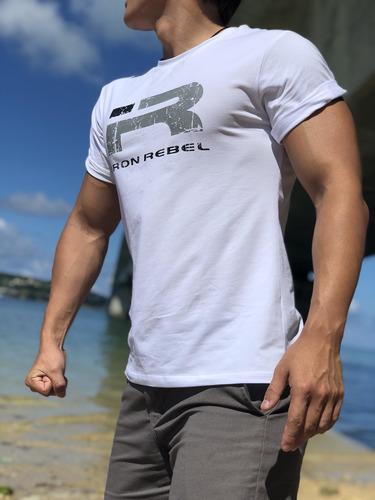SG健身服飾 │寬鬆系│ 運動寬鬆健美T恤 - 大R - 紅/藍/綠/白