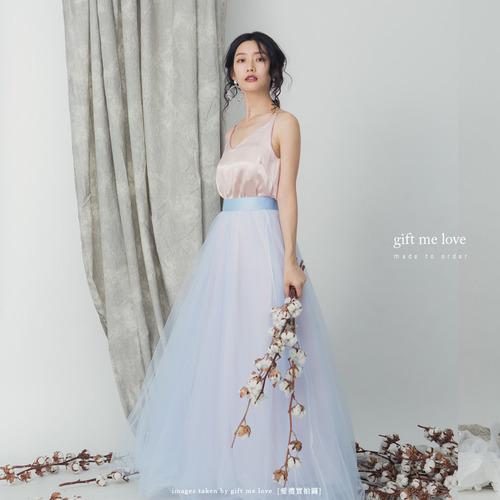 飄逸大裙擺 配色款5層紗裙 104色(AE23)gift me love 愛禮訂製時裝店
