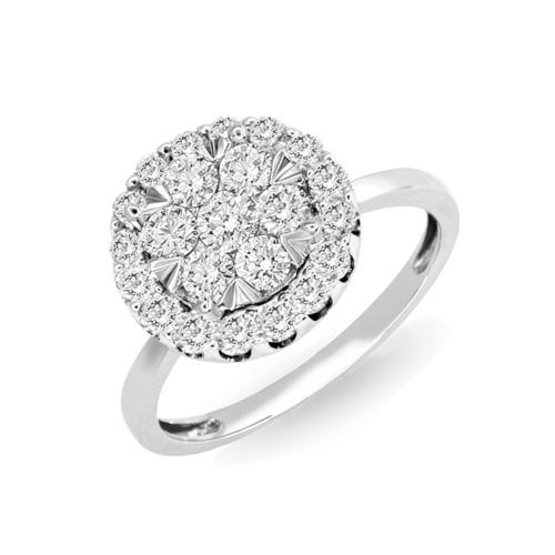 18K 1.00卡鑽石閃匯戒指