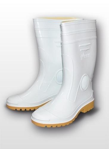 高級男用全長雨鞋 (白)