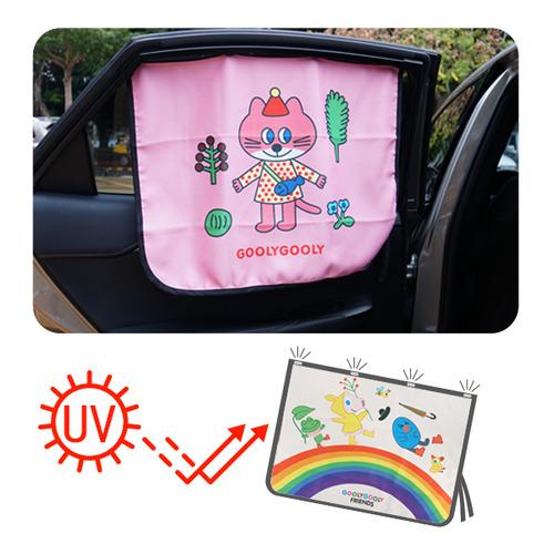 插畫磁吸式防曬抗UV汽車窗簾車用遮光布遮陽窗簾【ICF9023】JoyBaby