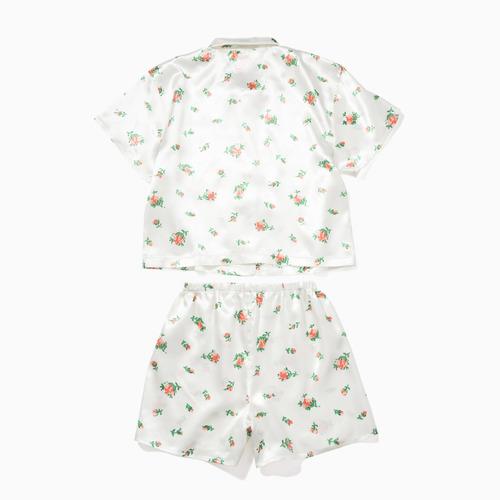 那位媽媽 - 【水原希子自創品牌OK】裝苑花柄緞面睡衣套裝