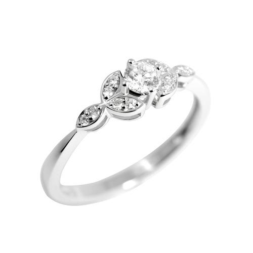 18K 0.25卡獨立主石鑽石戒指