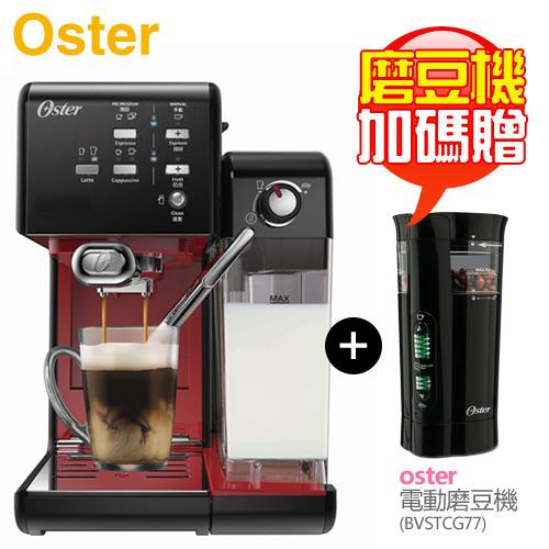 【送磨豆機】美國 Oster ( BVSTEM6701B ) 5+隨享咖啡機(義式+膠囊)-美式搖滾黑