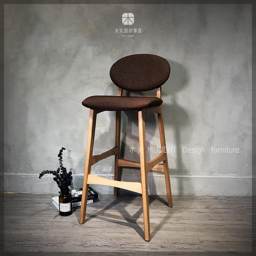 Renee簡約靠背高腳椅/吧檯椅