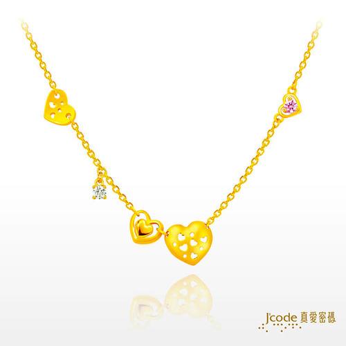 【J'code真愛密碼 時尚金飾,銀飾】全是愛 - 黃金項鍊