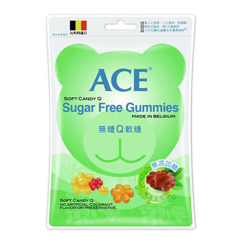 ACE 無糖Q軟糖隨手包 48公克/袋 (比利時原裝進口)(AB1806)