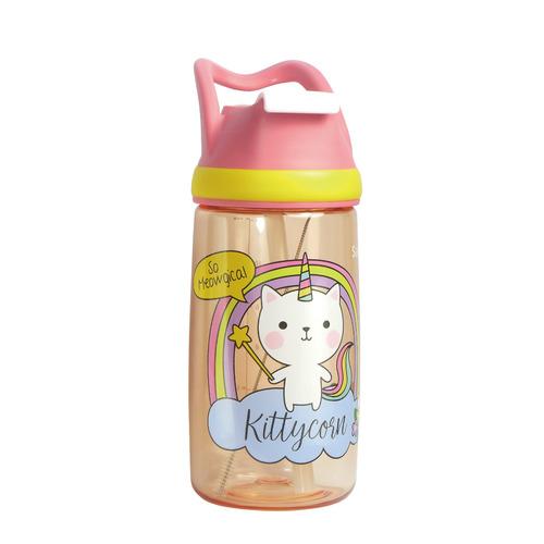 12oz 兒童吸管水樽 - 貓咪