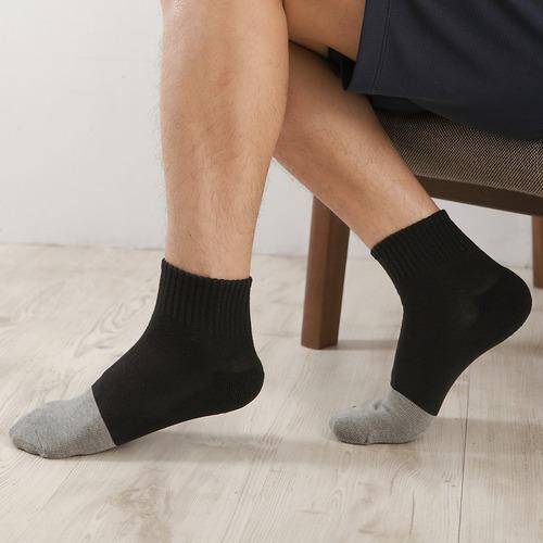 【Yenzch 源之氣】竹炭短統運動襪/男 6雙組 RM-30009