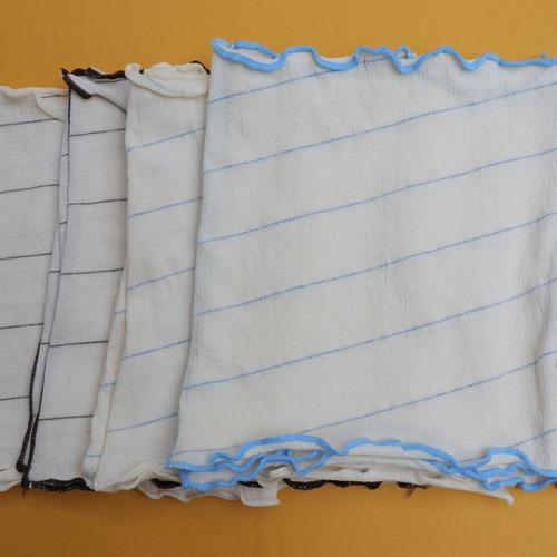 ENEH怡然自得有機棉 橫條小手帕 吸水快速 柔軟細緻 攜帶方便