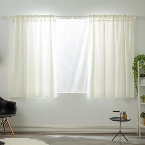 [ LIGHT 輕系列 ] 高密度90%遮光窗簾 淺粉+牙白 寬133高240 單片