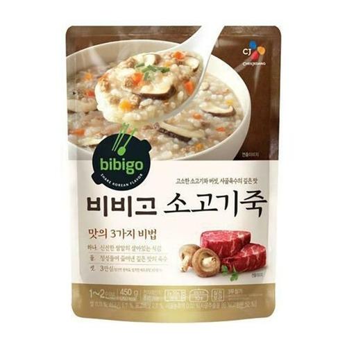 韓國 CJ bibigo 牛肉即食粥 (1-2人份)450g